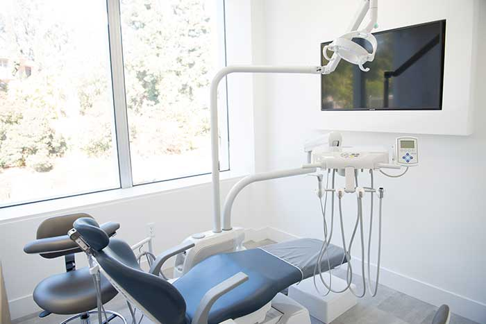 Treatment room at Sabeti Cosmetic Dentistry.
