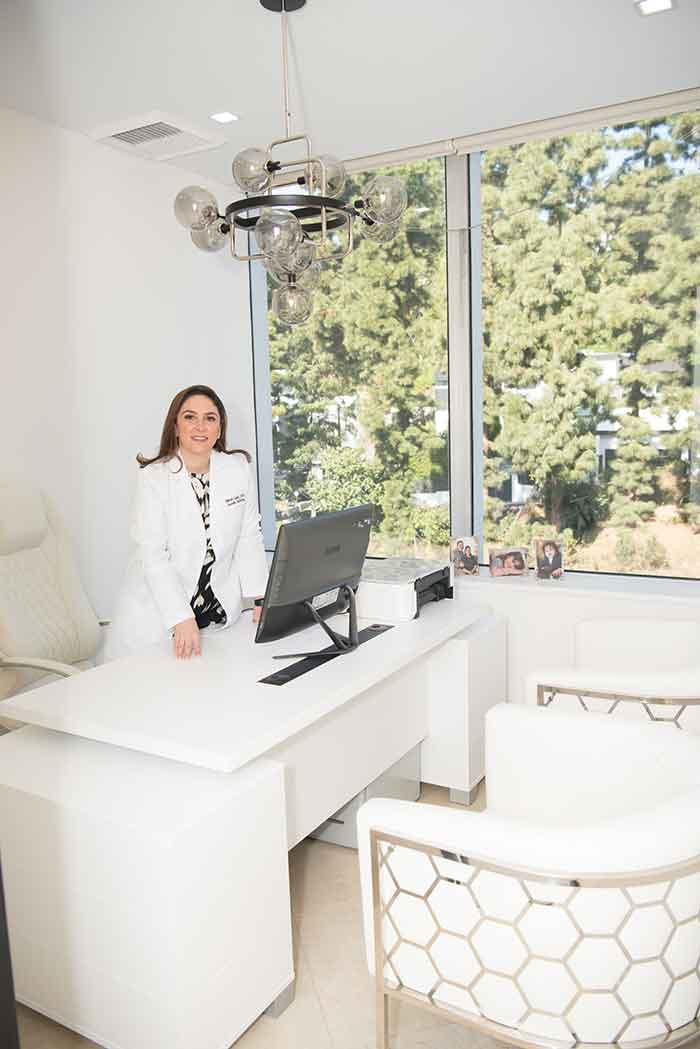 Dr. Shohreh Sabeti in her office at Sabeti Cosmetic Dentistry.