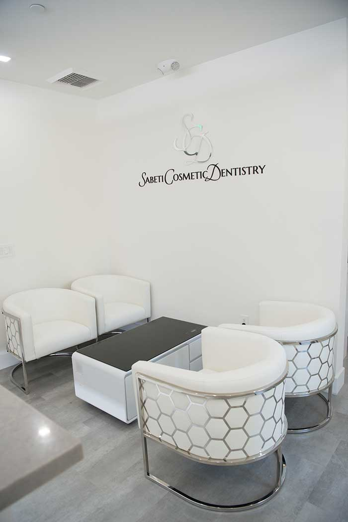 Waiting room at Sabeti Cosmetic Dentistry Office.