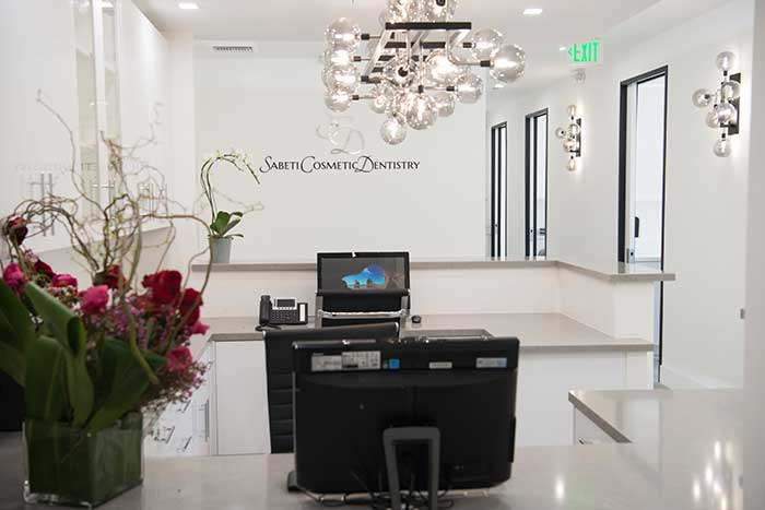Office Front Area at Sabeti Cosmetic Dentistry Office.